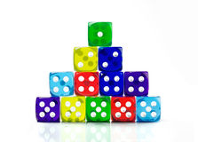 Stack of color dice Stock Photography