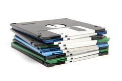 Stack of color floppy disks Stock Photography