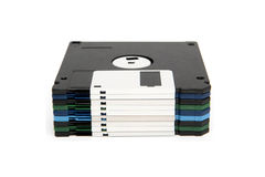Stack of color floppy disks Stock Photo