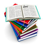 Stack of color hardcover books Stock Images