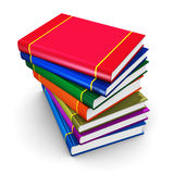 Stack of color hardcover books Royalty Free Stock Images