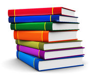 Stack of color hardcover books Stock Photo