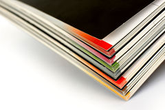Stack of color magazines Royalty Free Stock Photography