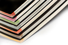 Stack of color magazines Royalty Free Stock Photo