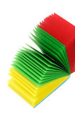 Stack of Color Memo Papers Stock Images