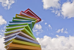 Stack of colored books. Stack of colored hard cover books Royalty Free Stock Image