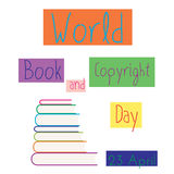 Stack of colored books vector illustration. Royalty Free Stock Photos