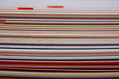 Stack of colored cardboard texture paper Stock Photo