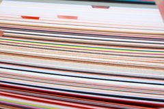 Stack of colored cardboard texture paper Stock Photos