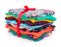 Stack of colored clothes Royalty Free Stock Photo