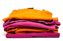 Stack of colored clothes Royalty Free Stock Image