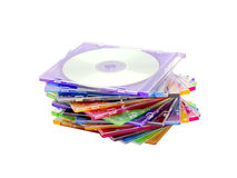 A stack of colored discs Royalty Free Stock Photos