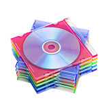 A stack of colored discs Stock Photography