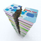 Stack of colored fidelity card broken Stock Image