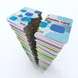 Stack of colored fidelity card broken stock illustration