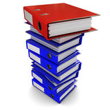 A stack of colored folders for office papers Royalty Free Stock Images