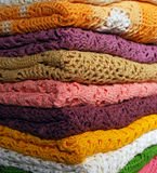 Stack of colored jackets Stock Photos