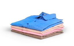 Stack of colored men's shirts Stock Photography