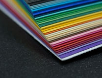 Stack of colored paper Royalty Free Stock Photography