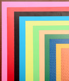 Stack of colored paper for creative work Stock Photos