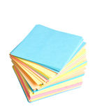 Stack of colored paper Stock Photography