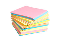 Stack of colored paper Royalty Free Stock Photos