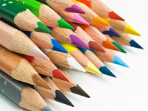 Stack of colored pencils Royalty Free Stock Photography