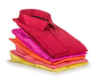 Stack of colored shirt Royalty Free Stock Image
