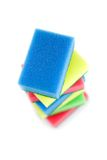 Stack of colored sponges Stock Image