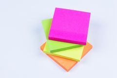 Stack of colored sticky notes Royalty Free Stock Photography