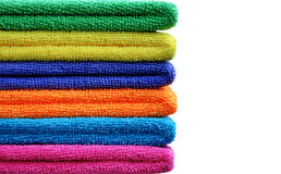 Stack of colored towels Stock Images