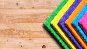 Stack of colored towels Royalty Free Stock Image