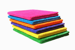 Stack of colored towels Royalty Free Stock Photo