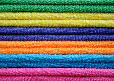 Stack of colored towels Royalty Free Stock Photography