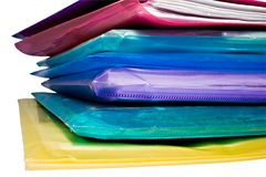Stack of colored vinyl document files Royalty Free Stock Image