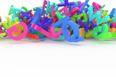 Stack of colorful alphabets letters Royalty Free Stock Image
