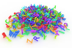 Stack of colorful alphabets letters from A to Z Stock Photo