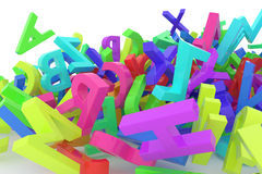 Stack of colorful alphabets letters from A to Z Stock Photos
