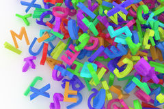 Stack of colorful alphabets letters from A to Z Stock Photography