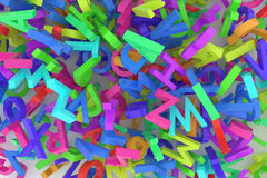 Stack of colorful alphabets letters from A to Z Stock Image