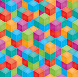 Stack of colorful baby blocks. Seamless 3D background. Stack of colorful baby blocks in isometric perspective. Vector seamless 3D background Stock Photography