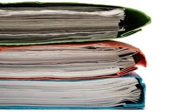 Stack of Colorful Binders Stock Image