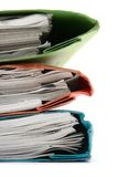 Stack of Colorful Binders (Close) Stock Photography