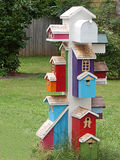 Stack of Colorful Birdhouses Stock Photography