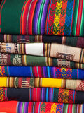 Stack of colorful blankets Royalty Free Stock Photo