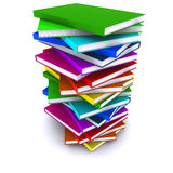 A stack of colorful books Royalty Free Stock Photography
