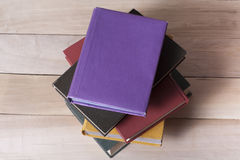 Stack of colorful books. Education background. Back to school. Copy space for text. Royalty Free Stock Photos