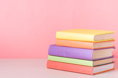 Stack of colorful books. Education background. Back to school. Copy space for text. Royalty Free Stock Images