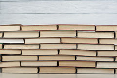 Stack of colorful books. Education background. Back to school. Copy space for text. Stock Photography