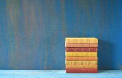 Stack of colorful books Royalty Free Stock Image